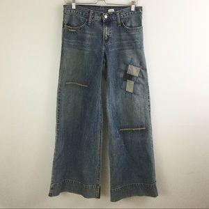 Levi's Wide Legged Patchwork Jeans